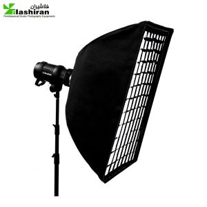 soft 1 300x300 - سافت‌باکس مستطیل ۹۰×۲۲ زنبوری Softbox with Grid