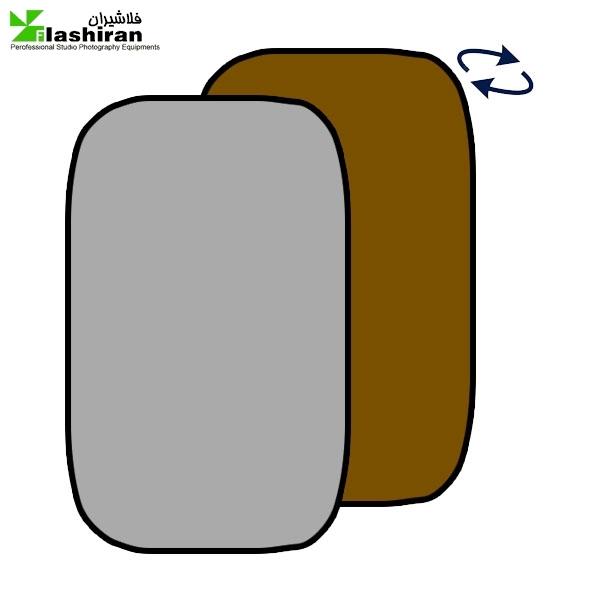 بکگراند پرتابل طوسی و قهوه ای Portable Back  1.5 ⨯ ۲m