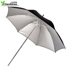 Umbrella1 300x300 - چتر 2لایه بازتاب کننده نقره ای / مشکی
