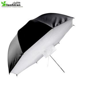 umbrella5 300x300 - چتر سافتباکسی قطر 80سانتیمتر - نقره ای
