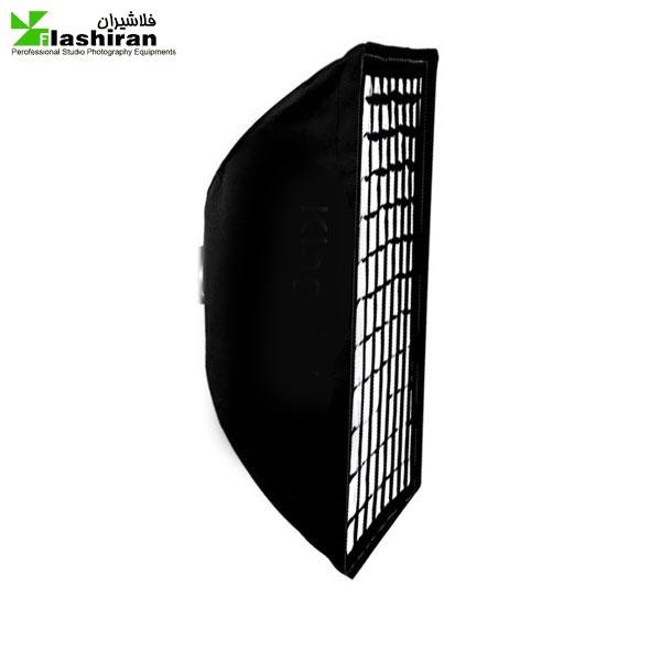 softbox11 600x600 - سافتباکس مربع ۱۰۰×۳۵ زنبوری Softbox with Grid کارکرده