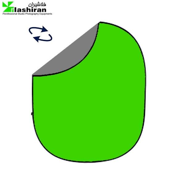 Portable Background 11 600x600 - بکگراند پرتابل طوسی و سبز Portable Back  1.5 ⨯ 2m