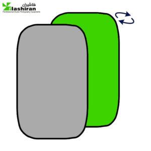 بکگراند پرتابل طوسی و سبز Portable Back  1.5 ⨯ ۲m