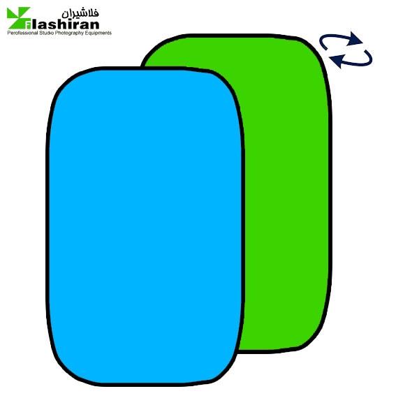 بکگراند  پارچه ای پرتابل آبی و سبز Portable Back  1.5 ⨯ ۲m کارکرده