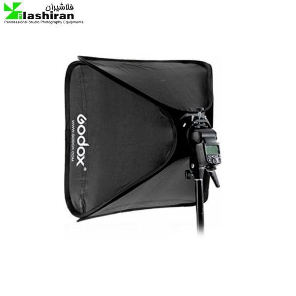 godox 24 x24 60cmx60cm portable collapsible softbox kit for camera photography studio flash fit bowens elinchrom mount 600x600 - کیت سافت باکس فلاش اکسترنال  SOFTBOX KIT ۵۰×۵۰ Godox کارکرده