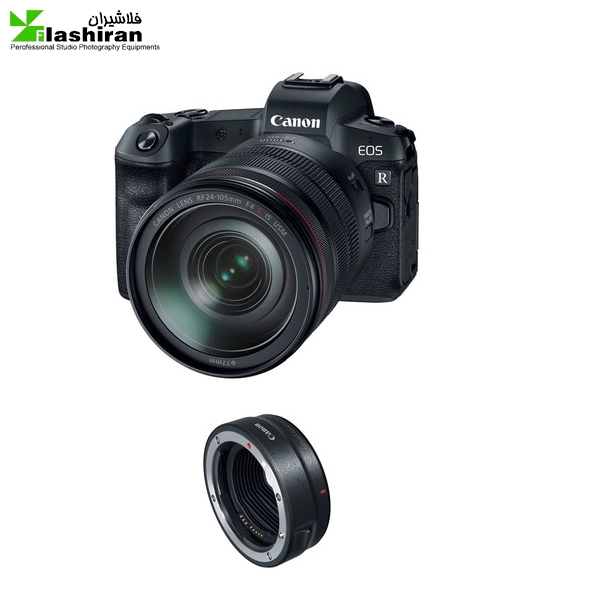 eos 600x600 - Canon EOS R Mirrorless با لنز mm 24-105دارای مانت و اداپتور