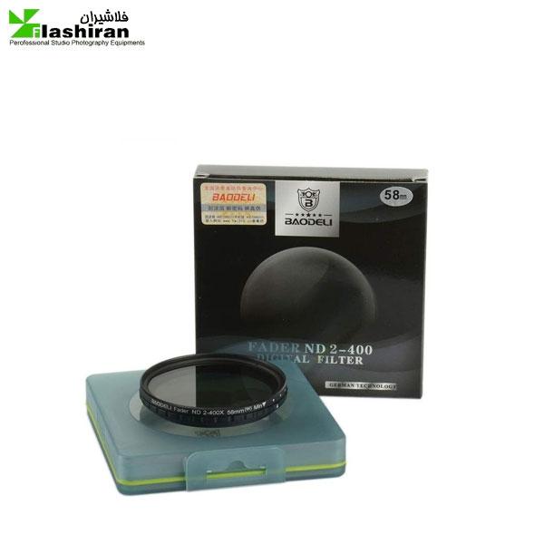 baodeli nd 58 600x600 - فیلتر لنز بائودلی مدل 58  ND2-400
