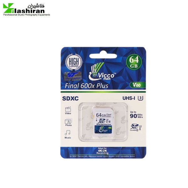 مموری VICCO SD V60 64GB U3
