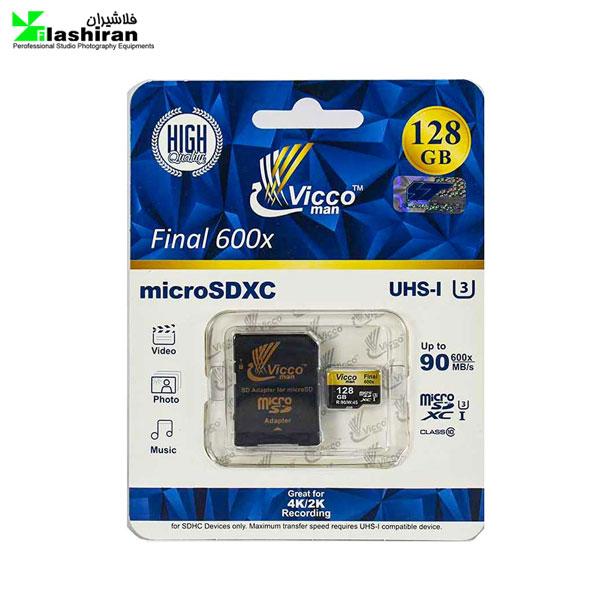 رم Vicco man MicroSD U3 90MB/S 128GB