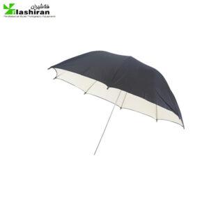 چتر ۲ لایه بازتاب کننده سفید / مشکی