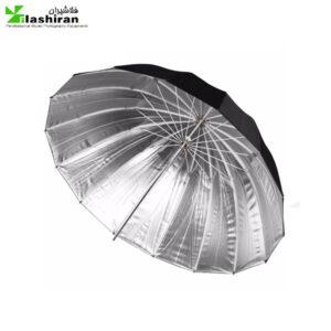 چتر خورشیدی ۲ لایه بازتاب کننده نقره ای  / مشکی