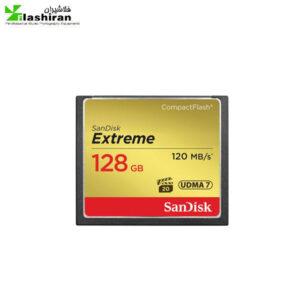 مموری CF سندیسک (SanDisk) ظرفیت ۱۲۸GB سرعت ۱۲۰MBs