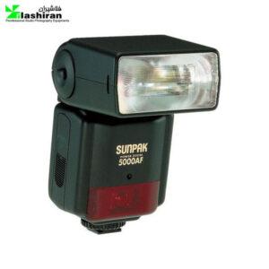 فلاش Nikon sunpak-5000 AF Speedlight کارکرده